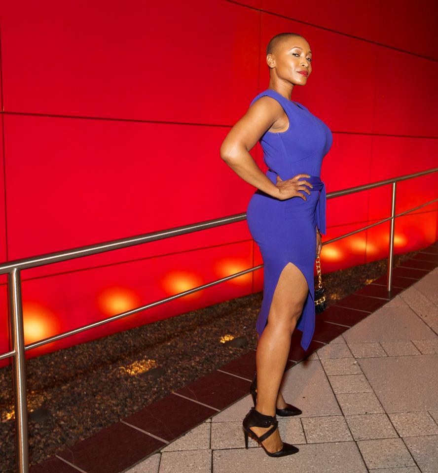 April In Blue Dress