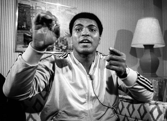 Muhammad Ali In His Suite