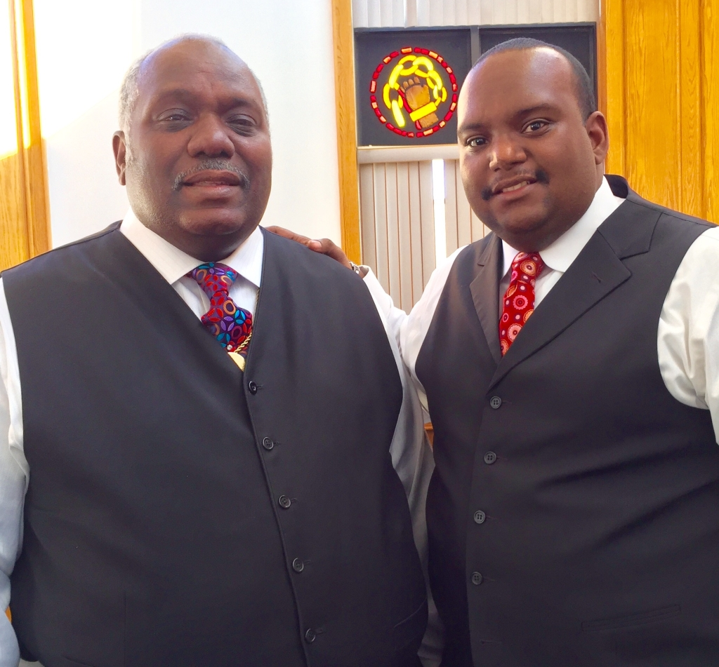 New Shiloh's Rev. Daniel Carter and Pastor Harold Carter Jr.