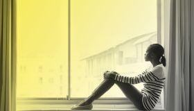 Black Woman Pensive Superfeature
