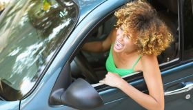Woman Yelling from Car
