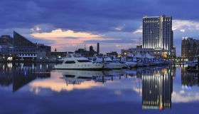 Inner Harbor With Yachts at Daybreak, Baltimore
