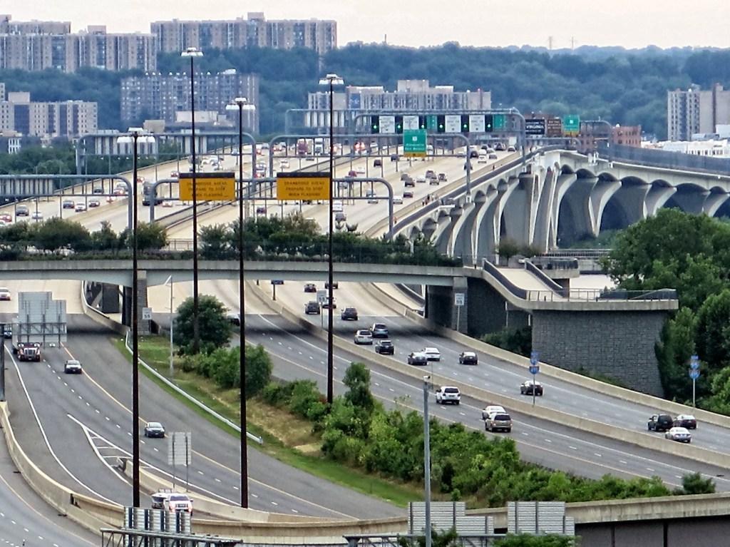 View of interstate 95 in Washington DC.