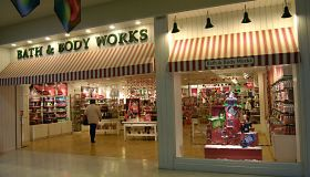 Shoppers at Bath & Body works in USA