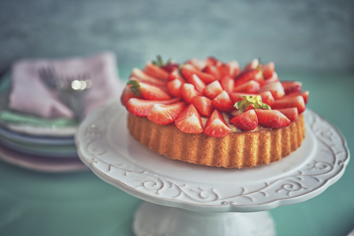 Strawberry Tart with Vanilla Cream