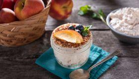 Peach Dessert Jar