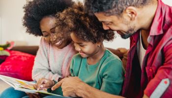 Parents learning together with child