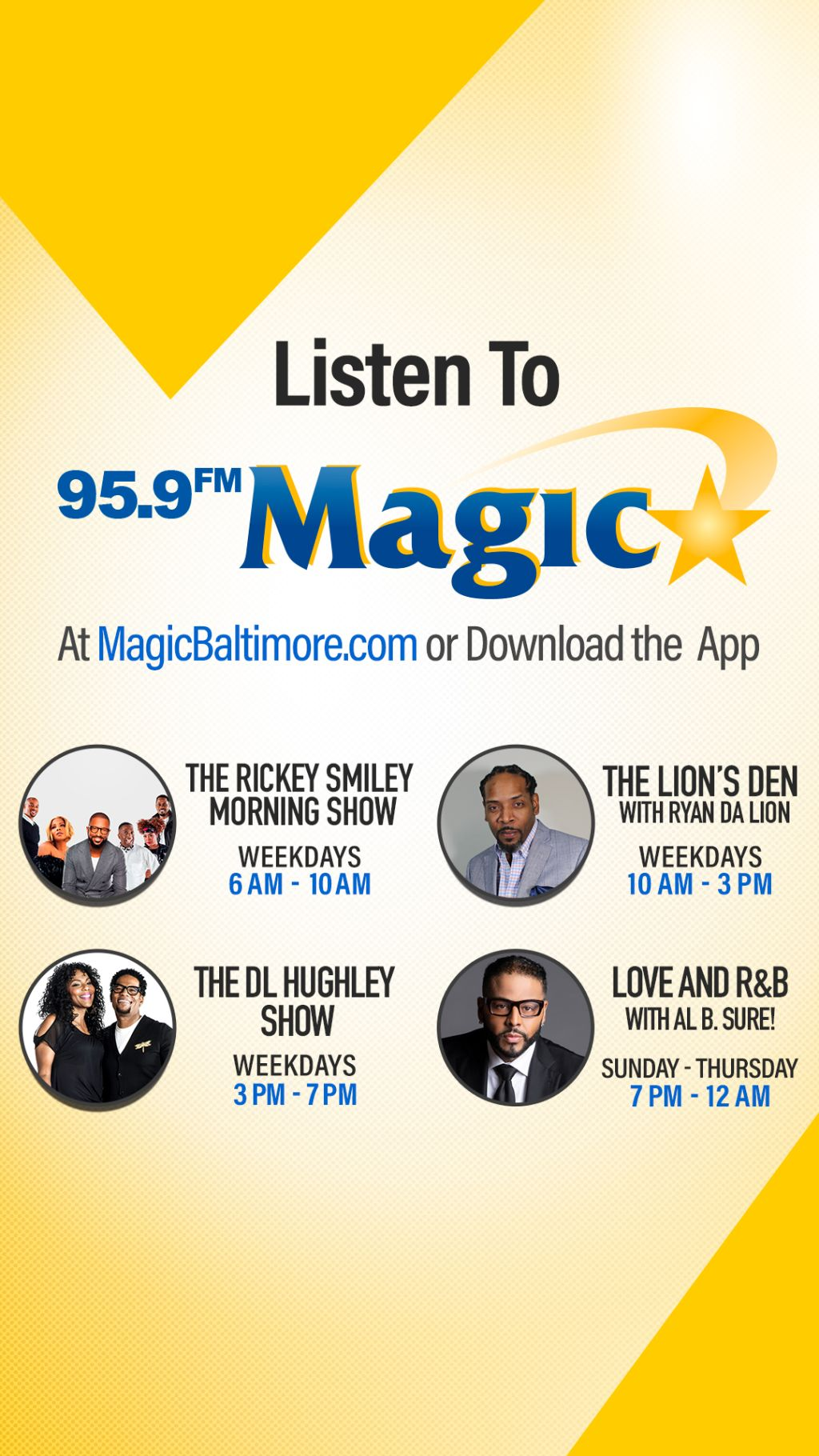 Magic 95.9 Show Schedule