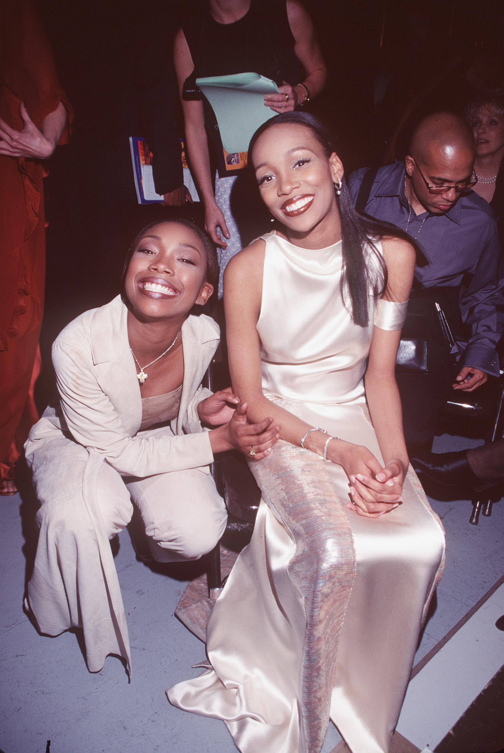 Brandy And Monica Were All Smiles At The 41St Annual Grammy Awards