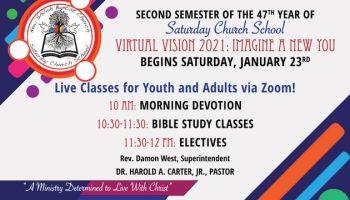 New Shiloh Baptist Church Zoom Saturday Church School