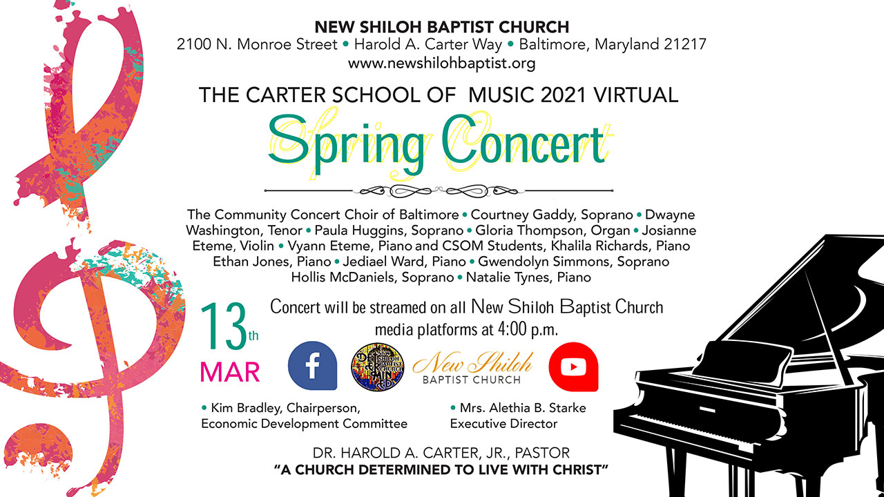 New Shiloh Baptist Church 2021 Event Page Listing Photos Carter